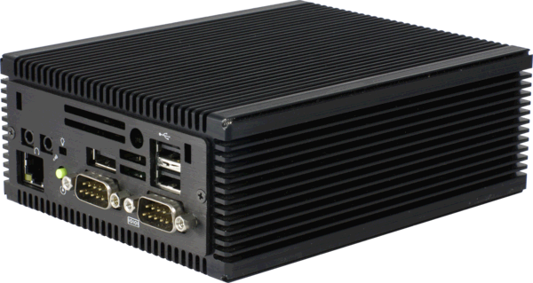 Sumicom S385F Ultra Small Fanless Industrial Computer,  Front